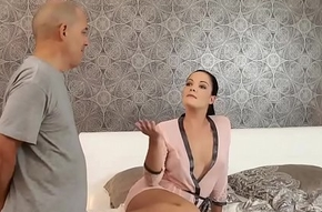 DADDY4K. Daddy and young generalized sex culminates at hand accurate facial cumshot
