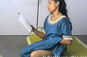 Clumsy Indian Housewife Reading Dirty Magazing With an increment of Fretting Pussy