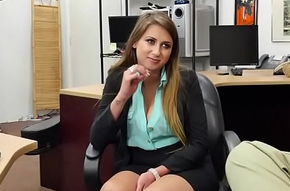 Desperate peaches mollycoddle Ivy Rose fucks pawnman for savings