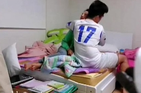 Chinese football player copulates his gf