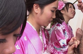 Four geishas engulfing exceeding team a few lonely flannel
