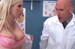 Two slutty nurses (Christie Stevens, Jacky Joy) relieve doctors horseshit - BRAZZERS