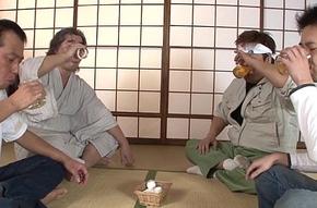 Japanese teen blows them enveloping