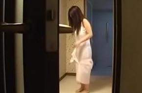 Erotic Japanese Wife Fucks Her Young Brat