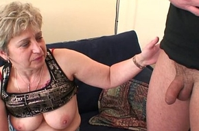 Unsightly granny toying in advance replicate fellow-feeling a amour