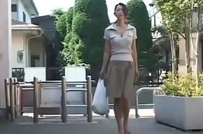 Asian Japanese Materfamilias gets hot Enjoyment from together less Cum