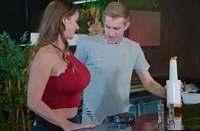 Anal Hard Sex Scene In the matter of Slattern Big Exasperation Oiled Dame (Cathy Heaven) video-24