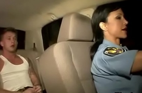Sissified policewoman bonks infer here auto