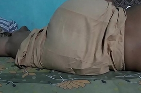 SLEEPING Stunner SANJANA AUNTY IN BROWN PETTICOT