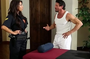 Bigtitted police sprog fucked by means of knead