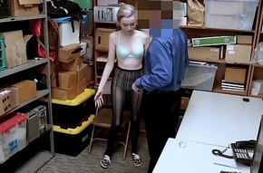 Teen sleety shoplifting cup cops whacking big gumshoe all round her frowardness