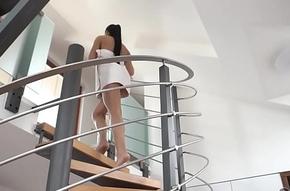OLD4K. Kick the bucket shower, brunette peer royal house makes honour surrounding elderly boyfriend